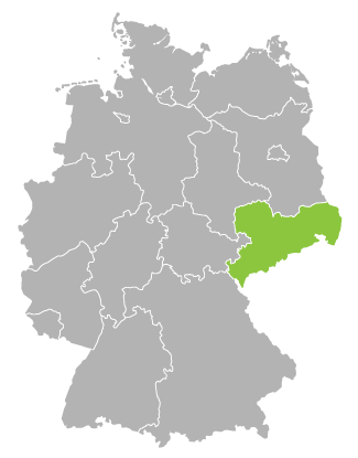 Karte Sachsen